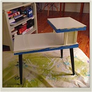 gloss almond table top